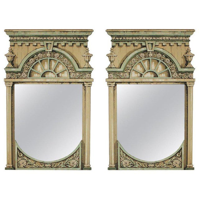 Fornasetti Style Theatrical Hand Painted Prop Mirrors - a Pair For Sale - Image 9 of 9