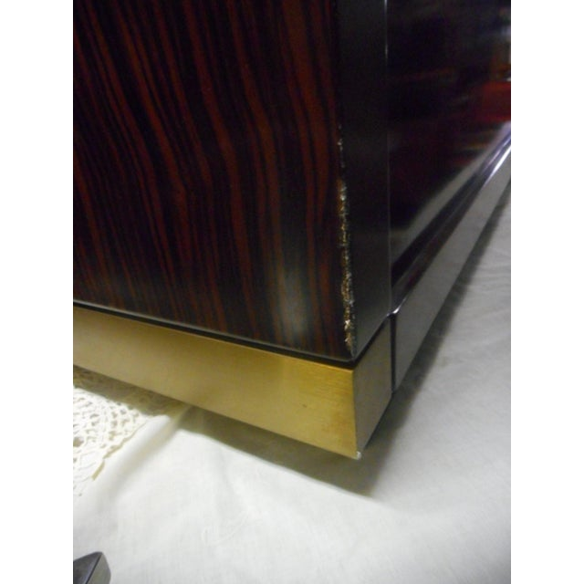 Gold Impressive Midcentury Chic Sideboard by Frigerio For Sale - Image 8 of 9