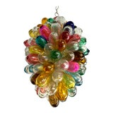 Image of Bright Colors of Light Fixture of Recycled Hand Blown Glass For Sale