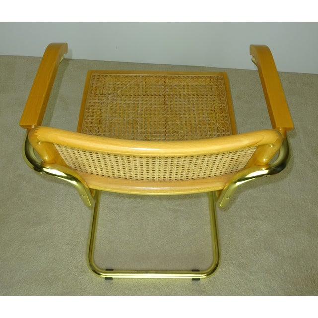 Marcel Breuer Cesca Brass Armchairs - a Pair For Sale - Image 9 of 11