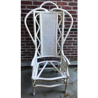 Vintage Tall Back Bamboo Rattan Chair Preview