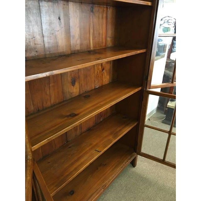 Excellent 19Th Century Antique Pine Wood Four Door Bookcase Download Free Architecture Designs Remcamadebymaigaardcom