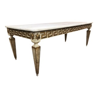 Antique Italian Neoclassical Style Marble-Top Coffee Table For Sale