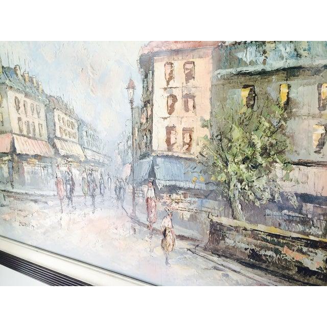 Caroline Burnett Street of Paris Oil Painting - Image 6 of 7