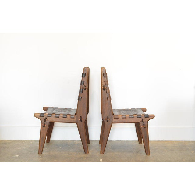 Mid-Century Modern Set of Six Ecuadorian Dining Chairs by Angel Pazmino, 1960's For Sale - Image 3 of 5