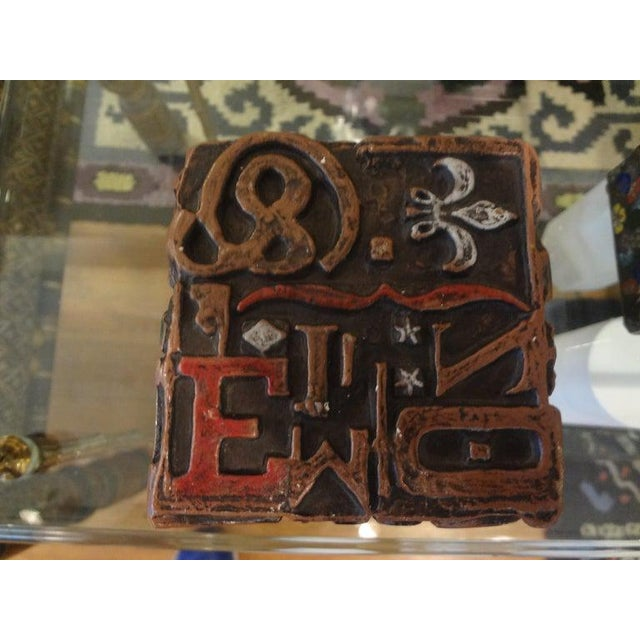Gold Mid Century Modern Alpha Cube Sculpture by Sheldon Rose For Sale - Image 8 of 13