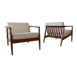 1965 Folke Ohlsson for Dux Barrel Back Lounge Chairs - a Pair