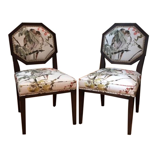 Mary McDonald for Chaddock Chantal Side Chairs - A Pair For Sale