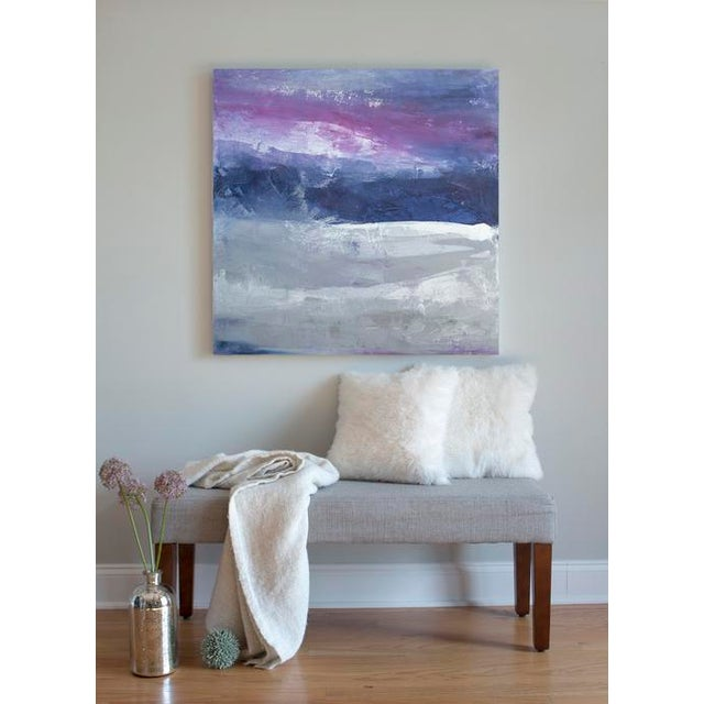 Gallery-wrapped acrylic painting canvas sides. Ready to Hang. Framing optional. Signed by artist Julia Contacessi