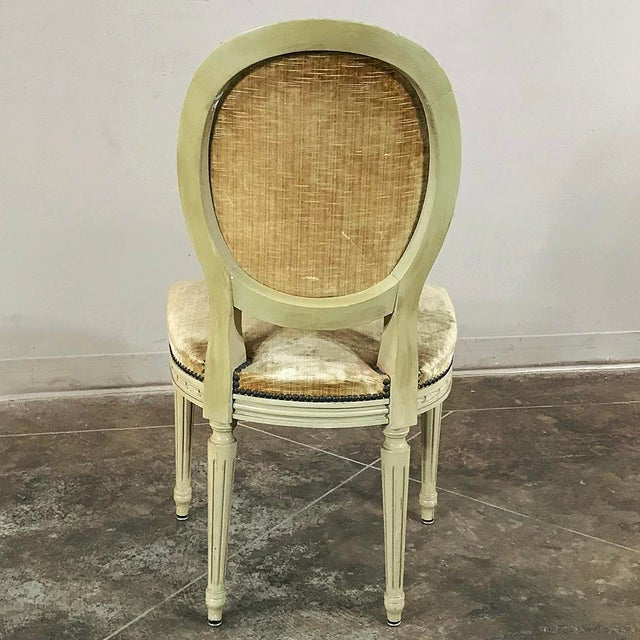 Set of 6 Antique French Painted Louis XVI Chairs For Sale - Image 4 of 13