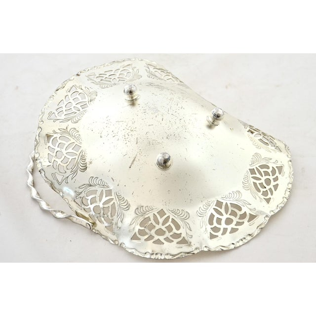 Early 20th Century Silver Reticulated Footed Catchall For Sale - Image 5 of 6