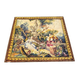 Antique French Pictorial Tapestry For Sale
