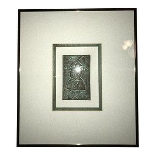 Original Harris G. Strong Framed Asian Man Tile Asian C-32 Artwork For Sale