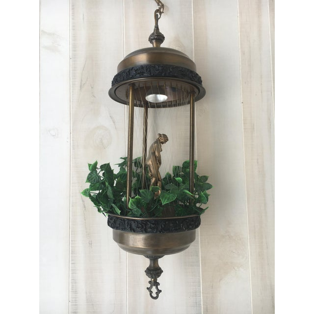 Vintage Golden Woman or Goddess Rain Lamp For Sale - Image 4 of 13
