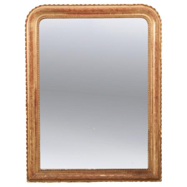 French 19th Century Gold Gilt Louis Philippe Mirror For Sale - Image 9 of 9