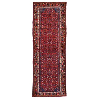 20th Century Persian Hussainabad Hamadan Runner - 3′9″ × 10′10″ For Sale