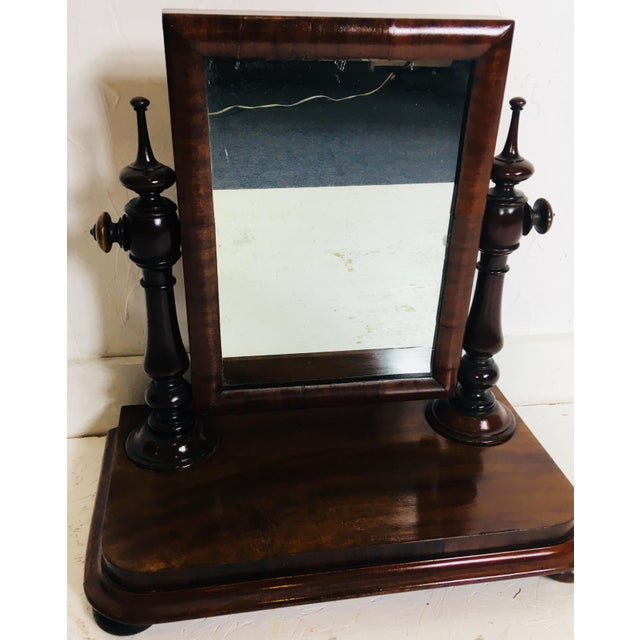 Glass 19th Century Antique Dresser Mirror For Sale - Image 7 of 8