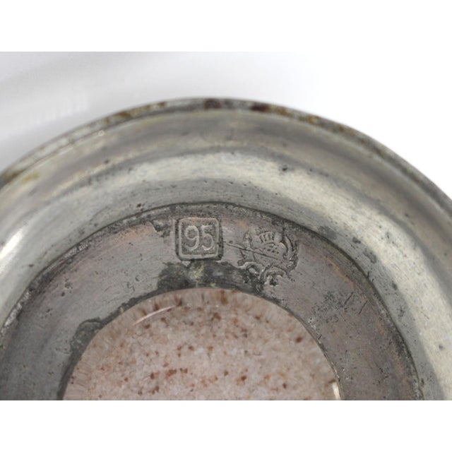 Match Italian Pewter & Glass Salt or Sugar Shaker For Sale - Image 4 of 6