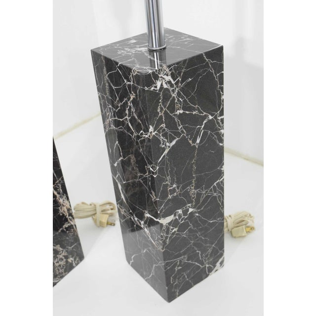 Marble Table Lamps by Nessen Studio - a Pair For Sale - Image 10 of 12