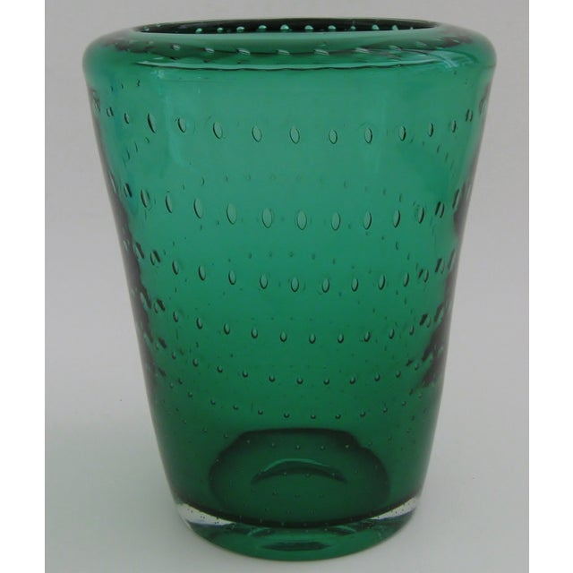 Mid-Century Modern Vintage Erickson Glass Vase For Sale - Image 3 of 4