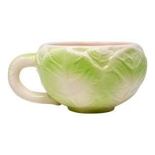 Vintage Cabbage Leaf Teapcup For Sale