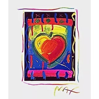 Peter Max Heart Series V 1998 For Sale