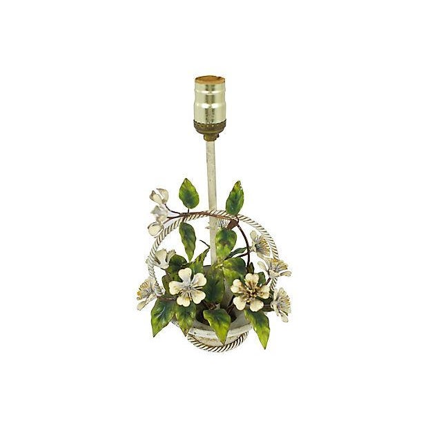 Italian Hand-Painted Tole Lamp - Image 2 of 7