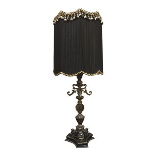 Mid-Century Gothic Smoky Crystal Lamp For Sale