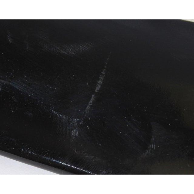 Ceramic Stephen Fabrico Signed Postmodern Black on Black Ceramic Tray For Sale - Image 7 of 8