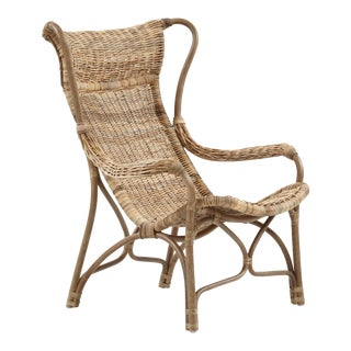 The Curve Lounge Chair, Gray, Rattan For Sale