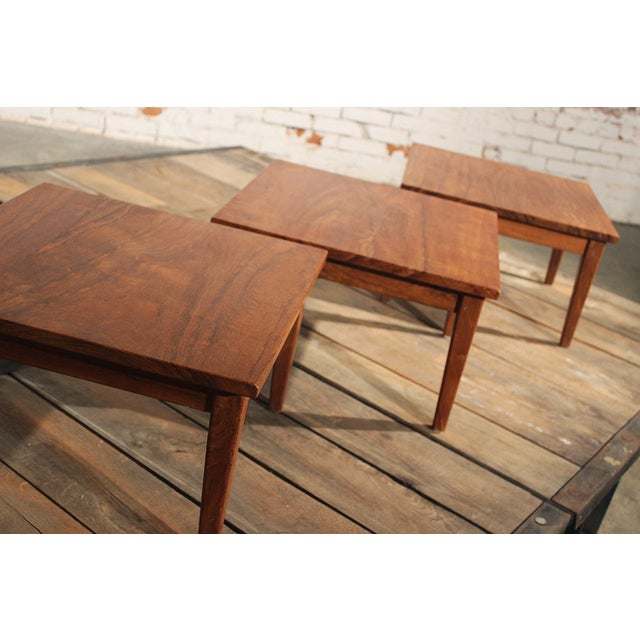 Mid-Century Stackable Rosewood Tables - Set of 3 - Image 3 of 9