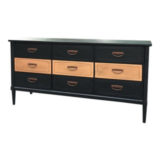 1970s Modern Copper and Black Wooden Triple Dresser