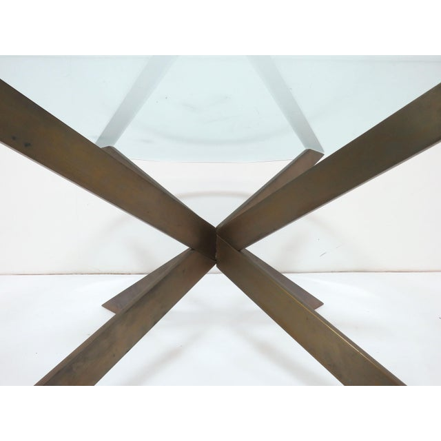 Leon Rosen for Pace Bronze X-Form Coffee Table For Sale In Boston - Image 6 of 10