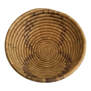 1950 Vintage Native American Coil Basket For Sale