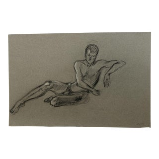 1980s Male Nude Drawing For Sale