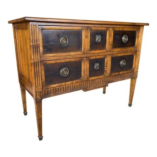 Italian Made Milling Road Baker Chest Console For Sale
