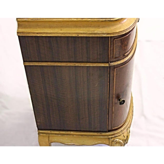 Antique Louis XV Marquetry Inlaid Commode Nightstand For Sale - Image 4 of 8