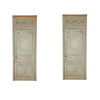 18th Century French Painted Doors - a Pair For Sale