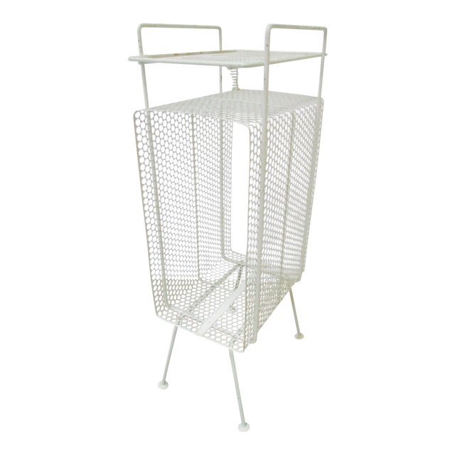 White Metal Telephone Stand / Magazine Holder - Image 1 of 9