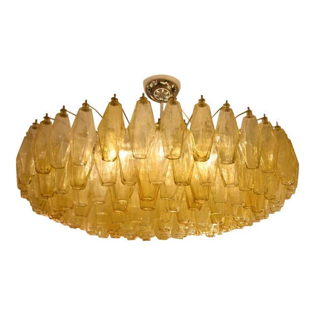 Paolo Scarpa Poliedri Ceiling Light For Sale