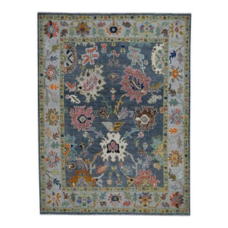Modern Turkish Oushak Rug - 9′ × 12′ For Sale