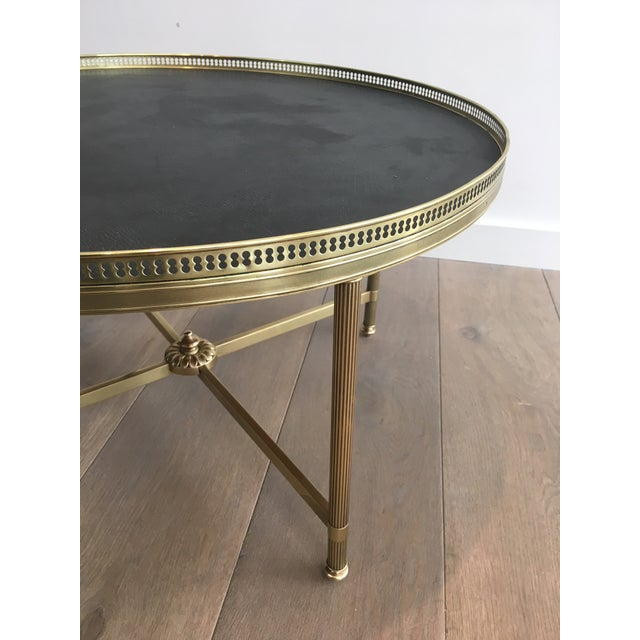Neoclassical Brass Coffee Table by Maison Jansen - Image 10 of 11
