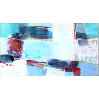 """""""Bay"""" Large Framed Original Artwork by Greet Helsen For Sale"""