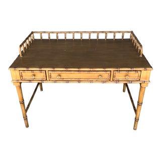 Faux Bamboo Writing Desk