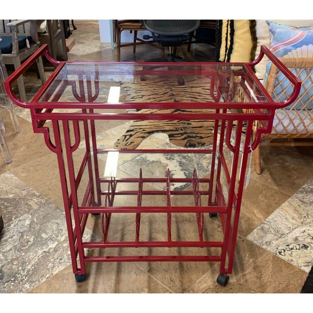 Art Deco Late 20th Century Art Deco Bar Cart For Sale - Image 3 of 9