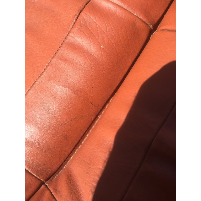 Vintage Teak & Leather Adjustable Lounge Chair - Image 7 of 8