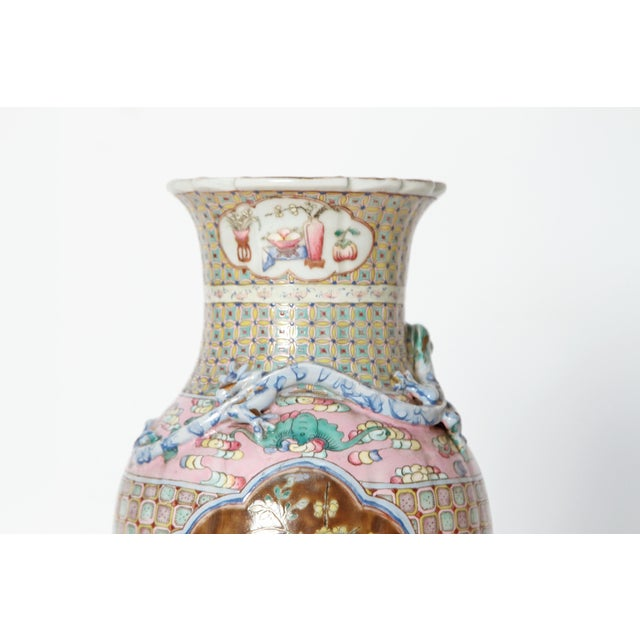 Late 19th Century 19th Century Pair of Chinese Vases For Sale - Image 5 of 11