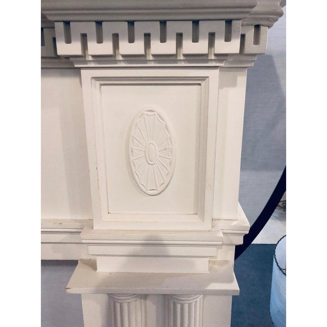 Neoclassical Monumental Hand Carved Fire Place Surrounds - a Pair For Sale - Image 10 of 13