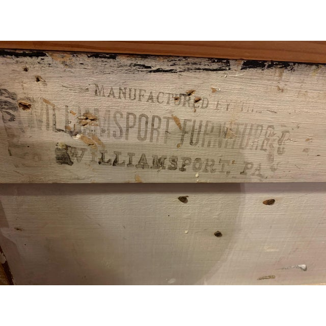 Antique Miniature Commode by Williamsport Furniture Company Pa. For Sale In Austin - Image 6 of 9