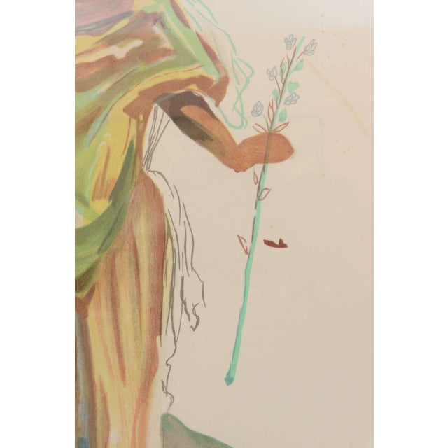 "Gold Salvador Dali 1970s Lithograph, ""Apollo"" For Sale - Image 8 of 10"